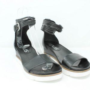 Sandalo donna pelle nera – Mjus