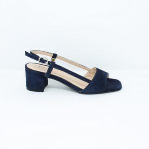 Sandalo geometrico in camoscio – Frau