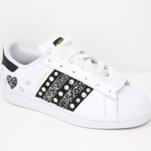 Adidas Superstar Strass Cuore Glitter & Lacci Raso – Ballodasola