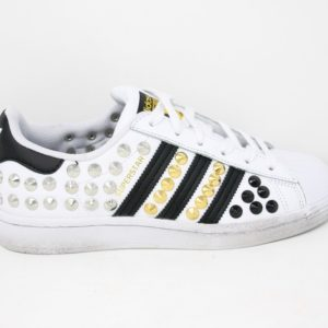 Adidas Superstar Total Borchie Gold/ Black/ Silver – Ballodasola