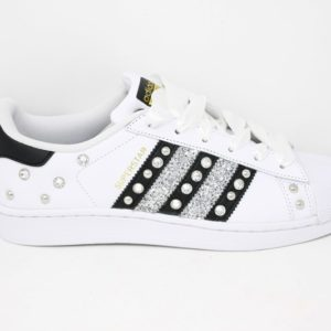 Adidas Superstar Total Borchie  swarovski/ Black/ Silver – Ballodasola